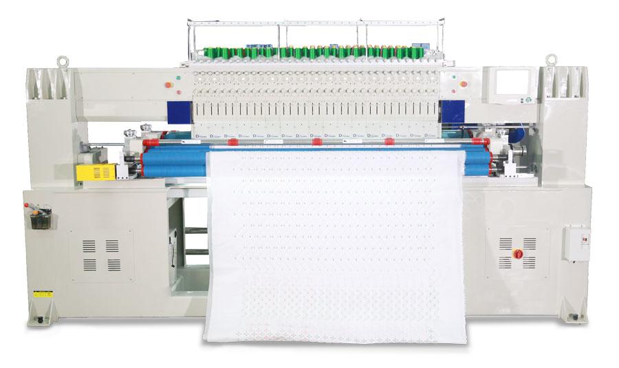 单色双排电脑绗绣机