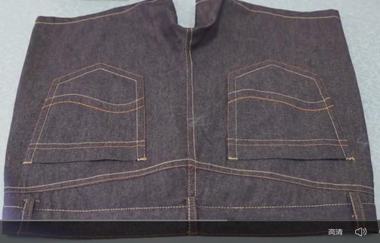 富怡多色全自动缝纫机牛仔裤口袋制作应用