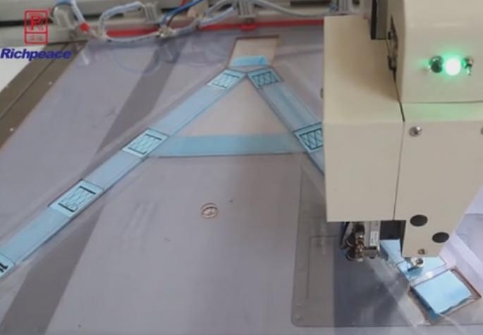 富怡全自动缝纫机样品-安全织带缝制