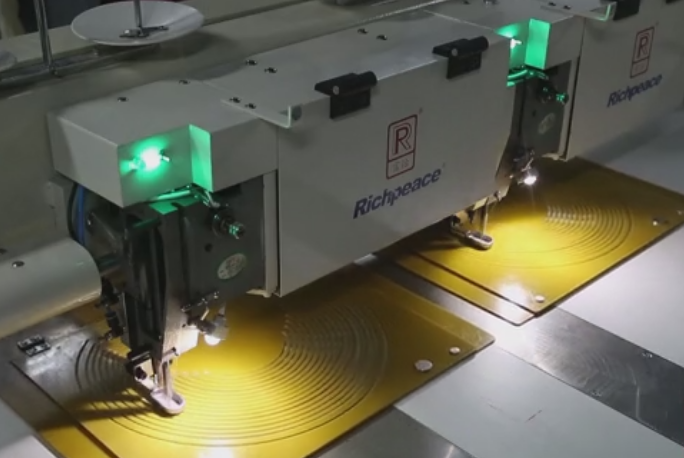 模板缝纫设备,帽檐制作应用