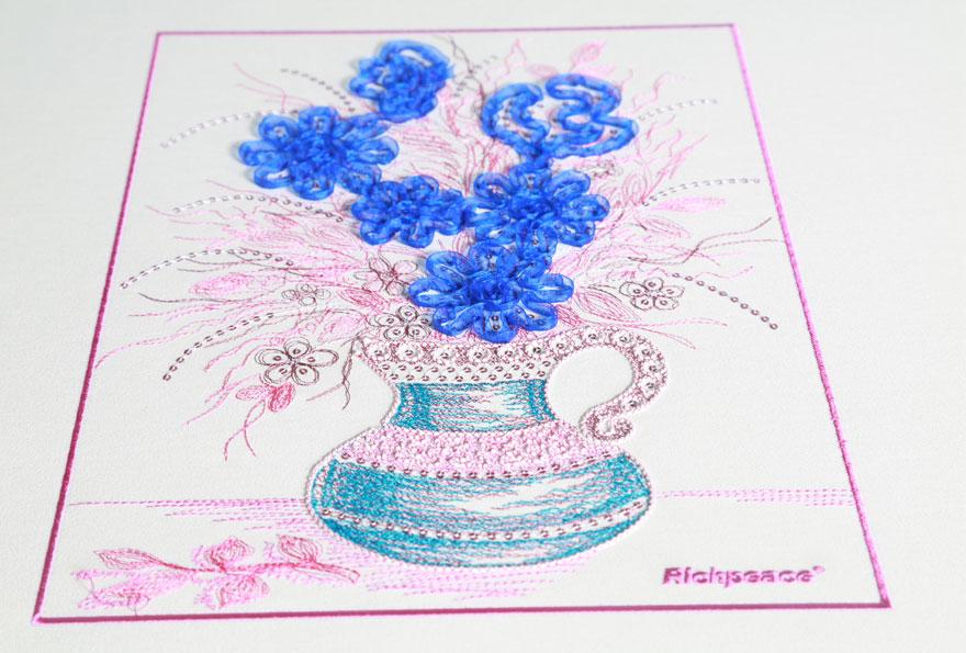 富怡电脑混合缠绕绣花机