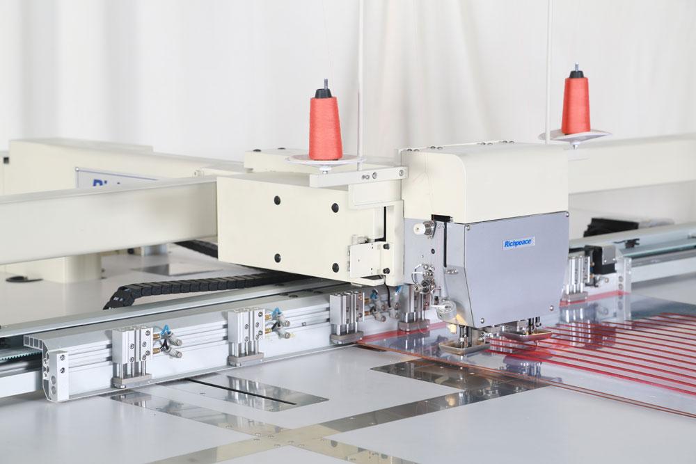 富怡全自动双向正线迹模板缝纫机