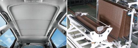 汽车天窗卷阳帘专用拉布机打样应用范围