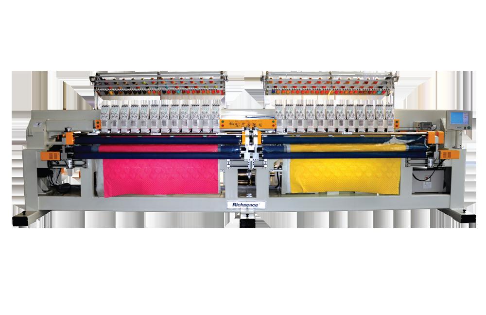 富怡多色双幅电脑绗绣机