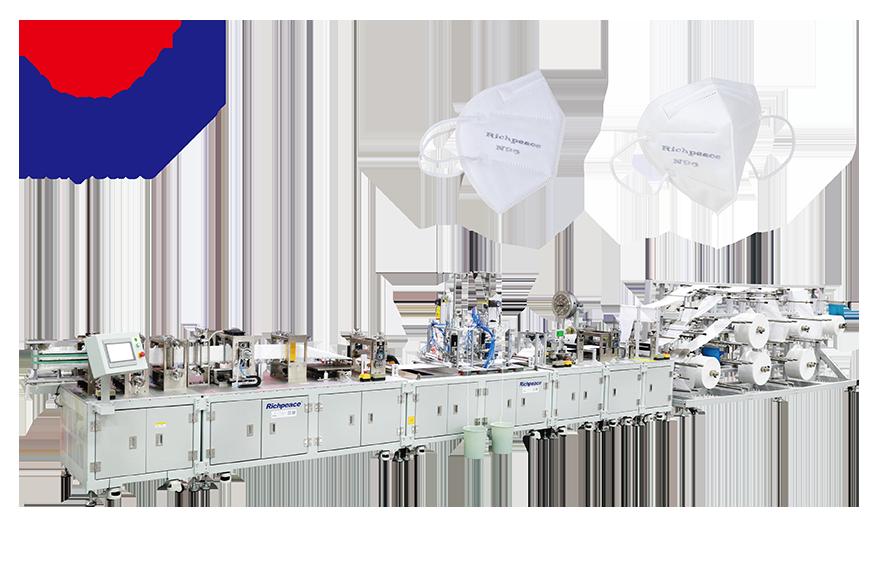 富怡全自动折叠口罩连续型生产线 (焊耳带)