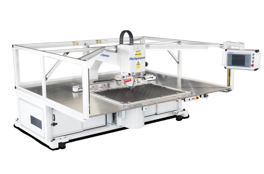 富怡全自动360单针旋转缝纫机